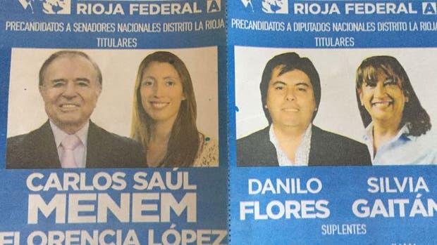 La boleta llevará a Carlos Menem peso a la impugnación de la Justicia