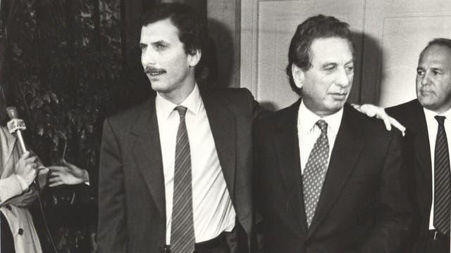 Mauricio Macri junto a su padre Franco