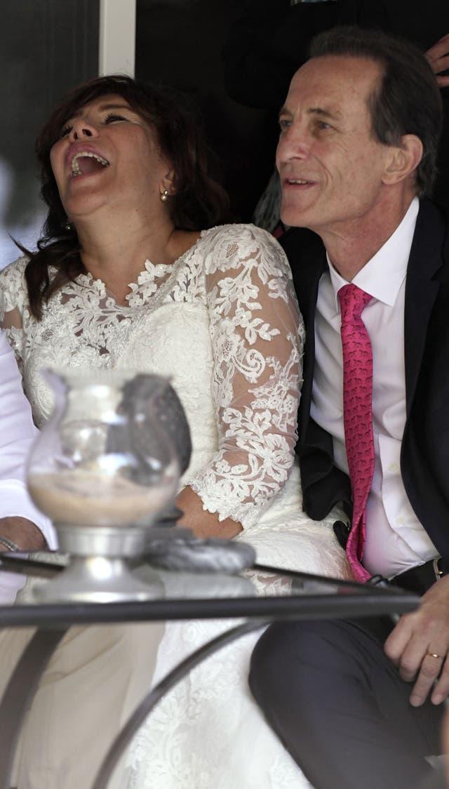 Kasanzew con su flamante esposa, Teresa