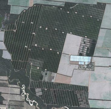 Vista satelital de la finca La Moraleja (30.000 ha). Foto: http://lamoraleja.com.ar