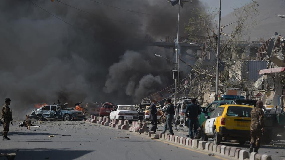 Algunos reportes dijeron que fue causada por explosivos ocultos en un tanque de agua. Foto: AFP