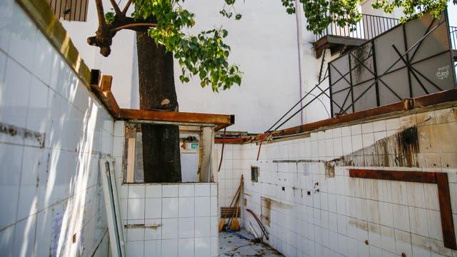 Los restos del restaurante