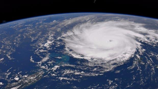 El huracán José desde arriba