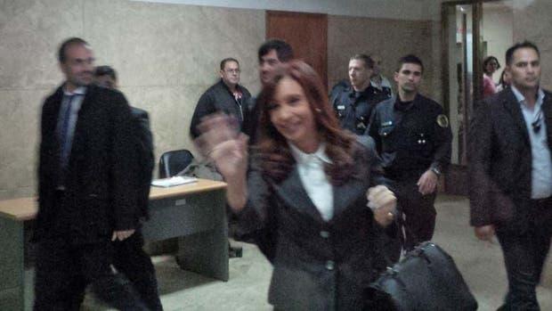 Cristina Kirchner, en Comodoro Py