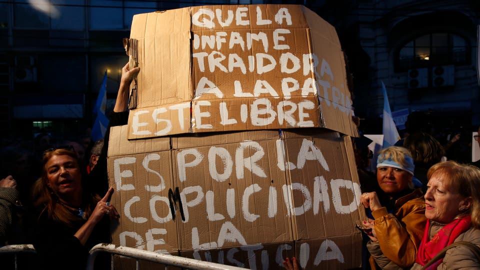 Marcha contra la impunidad en Tribunales. Foto: LA NACION / Fabián Marelli