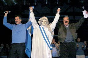 Mauricio Macri y Ricardo López Murphy en el lanzamiento de Pro, en agosto, en Avellaneda