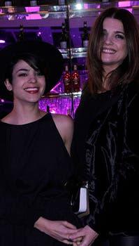 Agustina Cherri y Araceli González, chicas de negro. Foto: Prensa El Trece