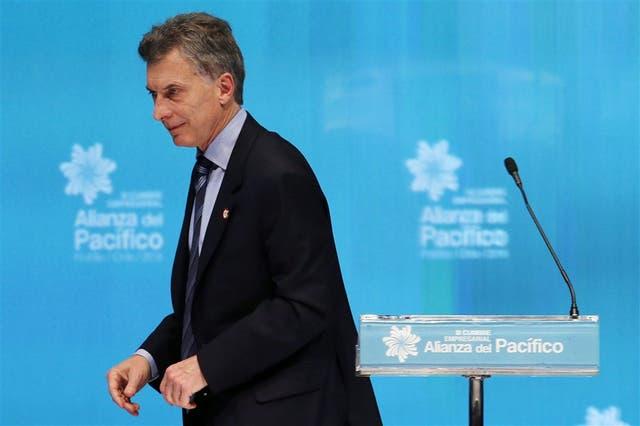 El presidente Macri, ayer, en la cumbre de la Alianza del Pacífico
