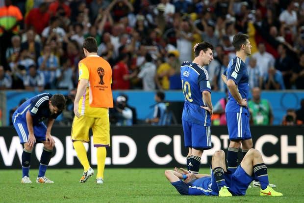 La Argentina perdió con Alemania 1-0 en la final.  Foto:DyN