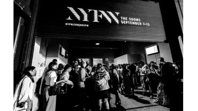 Entrada a un desfle de la New York Fashion Week, el 13 de septiembre de 2017