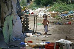 Imagen de una villa de Santiago del Estero, una de las provincias más afectadas por la pobreza