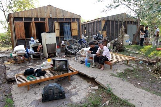 En Villa Elvira, las casa quedaron totalmente destrozadas. Foto: LA NACION / Fabián Marelli