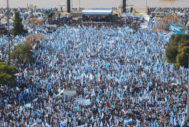El acto masivo del campo en Rosario