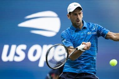 Novak Djokovic ganó en su presentación en el US Open