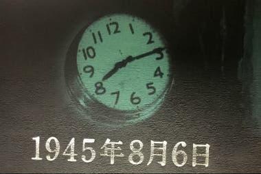 Este reloj se detuvo en la hora que estalló la bomba atómica