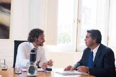 Santiago Cafiero y Jorge Capitanich