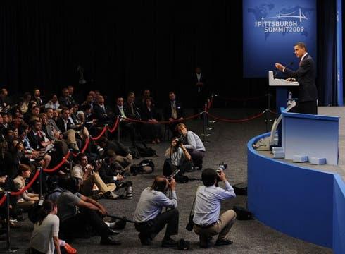 Barack Obama, durante su discurso.. Foto: EFE