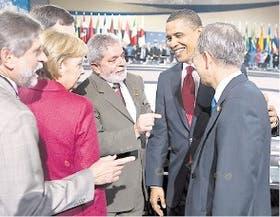 Obama, junto con Lula, Angela Merkel y Ban Ki-moon, en Pittsburgh