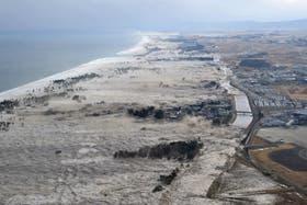 Vista del tsunami que afectó a Japón tras el terremoto
