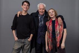 Luppi, con Nehuén Zapata y Susana Hornos