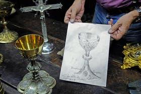 El boceto que Pallarols le entregará a Francisco el próximo domingo