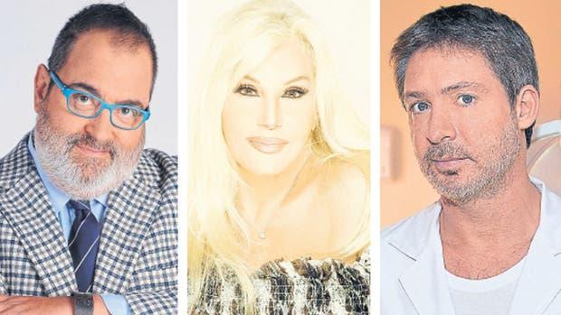 Jorge Lanata, Susana Gimenez y Adrián Suar