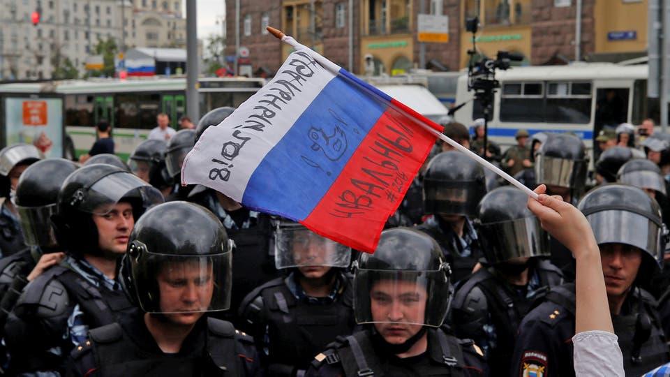 Hubo 1500 de detenidos, entre ellos el líder opositor Navalni, que convocó las marchas. Foto: Reuters