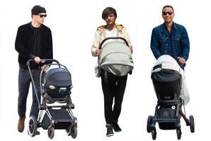 Hot daddies: quiénes son los famosos que tiran facha con sus bebés