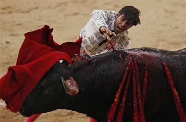 Una corrida en la plaza de toros de Madrid, el mes pasado