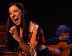 La intérprete Laura Albarracín, en su ciclo de los sábados