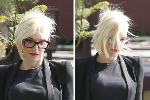 Con el pelo bien cortito, a Gwen Stefani también se le voló con el viento. Foto: Celebritieswonder.net