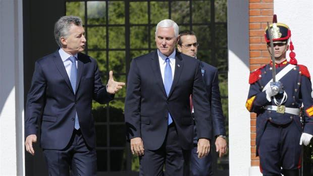 Macri y Pence, en el encuentro de esta semana donde se terminó de cerrar el acuerdo por limones y carne porcina