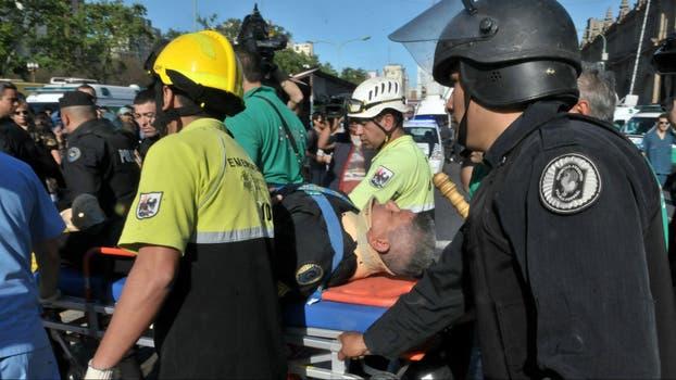 Fuerzas de seguridad y emergencias trabajando durante la tragedia. Foto: Archivo