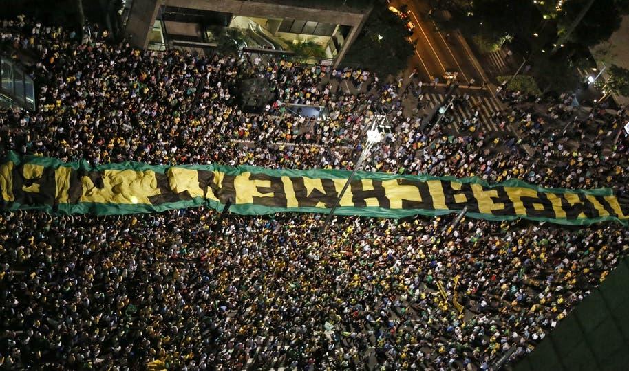 Un vista de los miles de brasileños que salieron a protestar. Foto: AFP