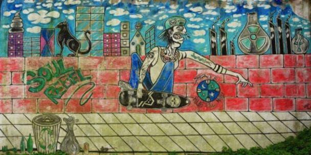 Buscan que los murales pintados por Santiago Maldonado sean patrimonio municipal