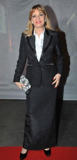 Teté Coustarot, muy elegante en negro y blanco. Foto: Gerardo Viercovich