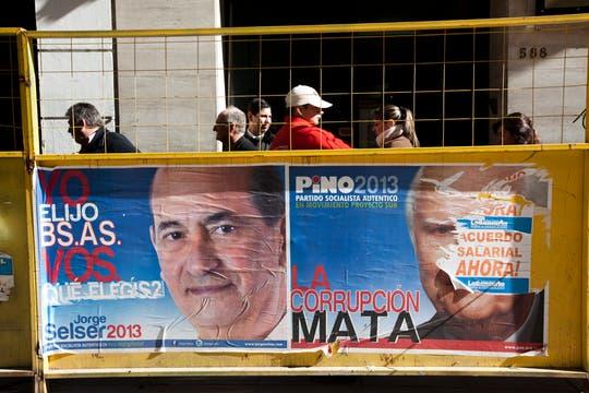 La campaña en la Capital para las próximas elecciones ya se siente en las principales avenidas del centro. Foto: LA NACION / Ezequiel Muñoz
