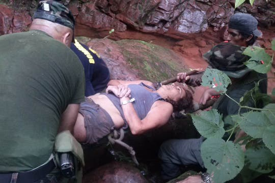 El emotivo rescate de Lía Constantino. Foto: Rosario Bonillo / Soledad Virazate
