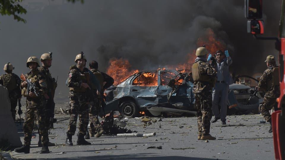 La detonación ocurrió cerca de la entrada fortificada de la embajada de Alemania. Foto: AFP