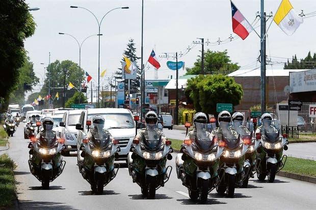 En Temuco, un ensayo del operativo de seguridad para la visita del Papa