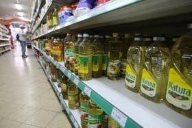 Una góndola de un supermercado
