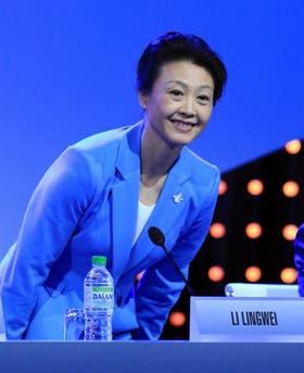 La china Li Lingwei, a cargo de la comisión de coordinación de los Juegos de la Joventud, que vino de visita a Buenos Aires