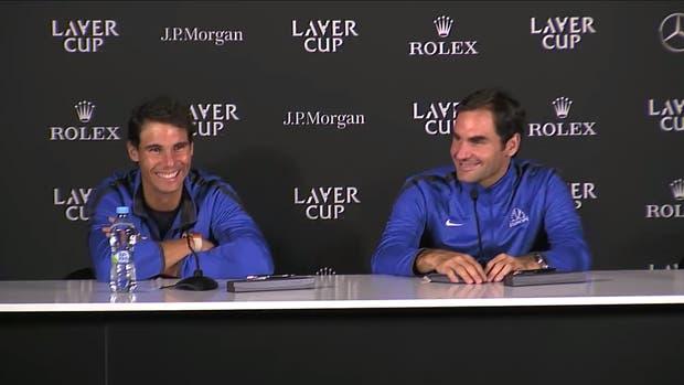 Nadal y Federer, una respuesta entre risas