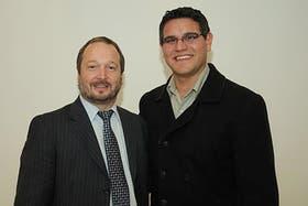 Nicolás Cherei junto a Martín Sabbatella