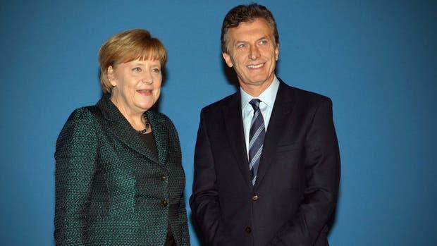 Macri fue recibido por Angela Merkel