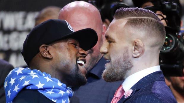 Mayweather y McGregor, cara a cara