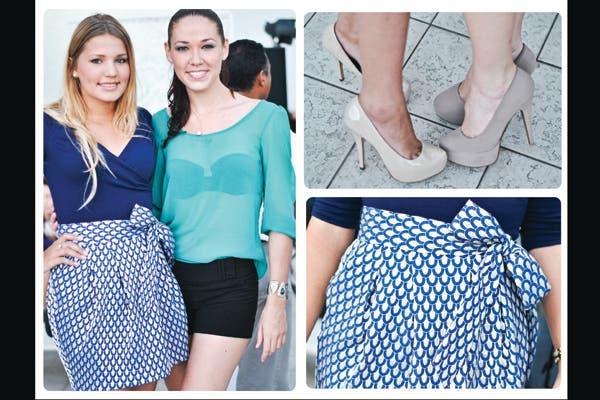 Aguamarina y azul Klein, los tonos del verano. Ideales para usar con zapatos color nude. Foto: Lulu Biaus
