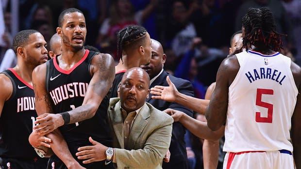 Escándalo en la NBA durante el partido entre Houston Rockets y Los Ángeles Clippers