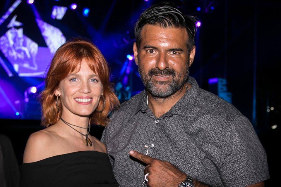 Liz Solari con nuevo look y junto a Diego Vera en el music circus festival organizado por Miller. Foto: OHLALÁ! /Gentileza Prensa