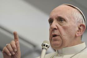 Durante el vuelo, el Papa Francisco respondió las preguntas de los periodistas de todo el mundo